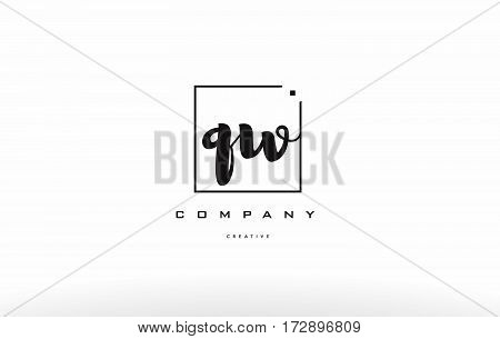 Qw Q W Hand Writing Letter Company Logo Icon Design