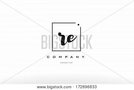 Re R E Hand Writing Letter Company Logo Icon Design
