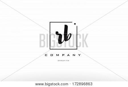 Rb R B Hand Writing Letter Company Logo Icon Design