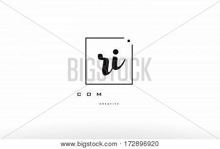 Rg R G Hand Writing Letter Company Logo Icon Design