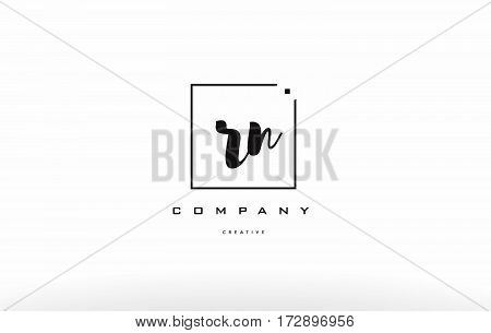 Rn R N Hand Writing Letter Company Logo Icon Design