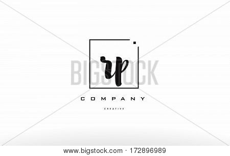 Rp R P Hand Writing Letter Company Logo Icon Design