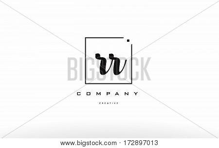 Rr R Hand Writing Letter Company Logo Icon Design