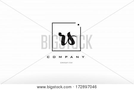 Rs R S Hand Writing Letter Company Logo Icon Design