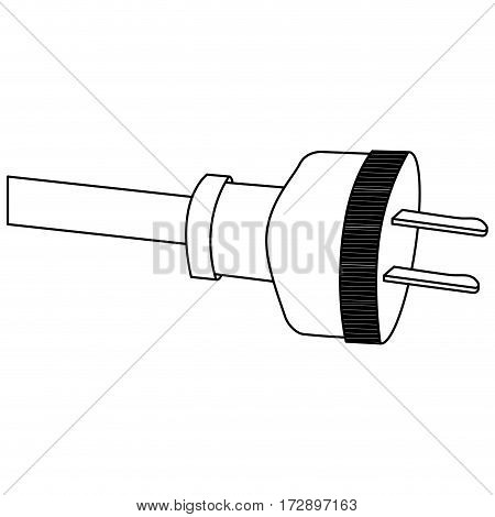 power cable icon stock, vector illustration design image