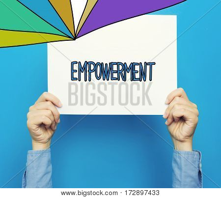 Empowerment Text On A White Poster
