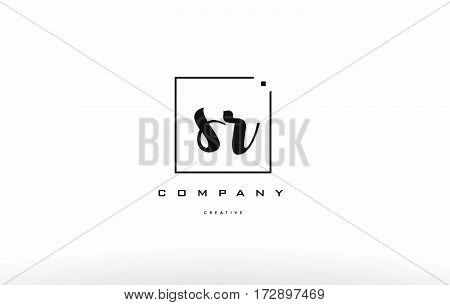 Sr S R Hand Writing Letter Company Logo Icon Design