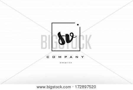 Sv S V Hand Writing Letter Company Logo Icon Design