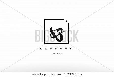 Sz S Z Hand Writing Letter Company Logo Icon Design