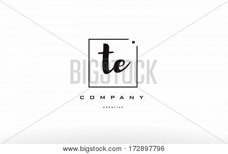 Te T E Hand Writing Letter Company Logo Icon Design