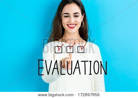 Evaluation Text With Young Woman