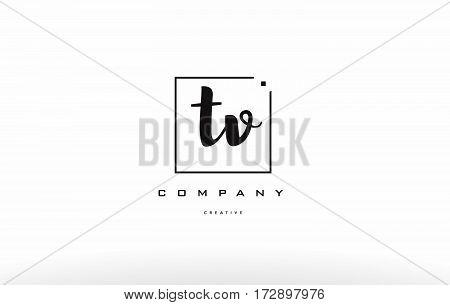 Tv T V Hand Writing Letter Company Logo Icon Design