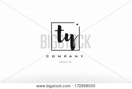 Ty T Y Hand Writing Letter Company Logo Icon Design
