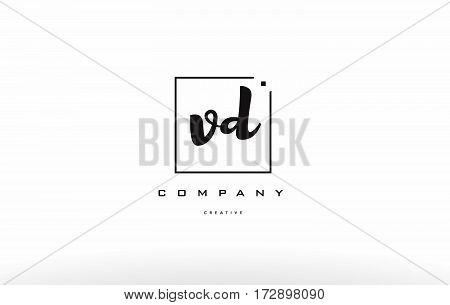 Vd V D Hand Writing Letter Company Logo Icon Design