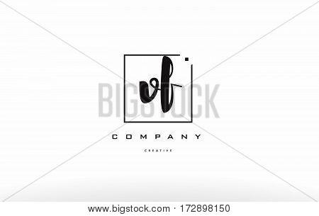 Vf V F Hand Writing Letter Company Logo Icon Design