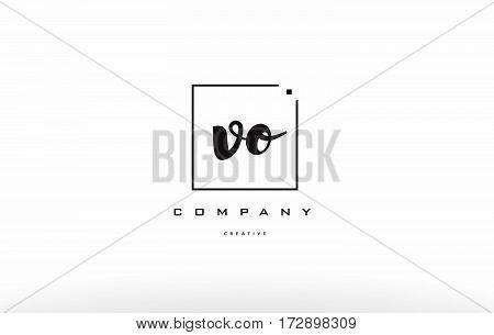 Vo V O Hand Writing Letter Company Logo Icon Design