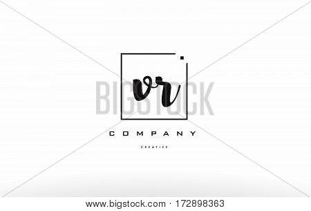 Vr V R Hand Writing Letter Company Logo Icon Design