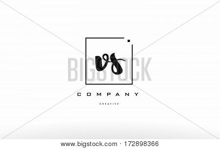 Vs V S Hand Writing Letter Company Logo Icon Design