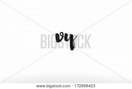 Vw V W Hand Writing Letter Company Logo Icon Design