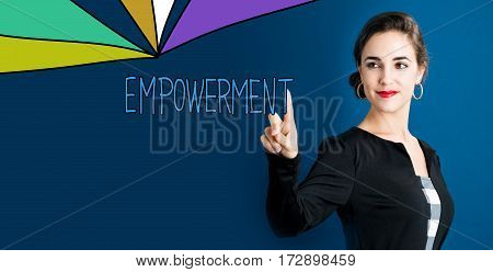 Empowetment Text With Business Woman