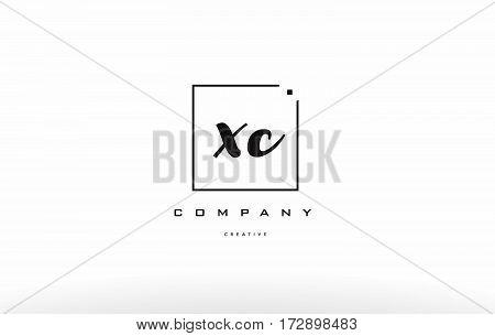 Xc X C Hand Writing Letter Company Logo Icon Design