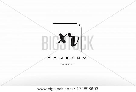 Xr X R Hand Writing Letter Company Logo Icon Design