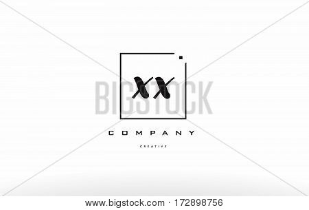 Xx X X Hand Writing Letter Company Logo Icon Design