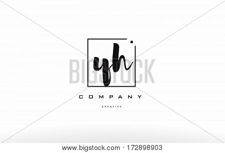 Yh Y H Hand Writing Letter Company Logo Icon Design