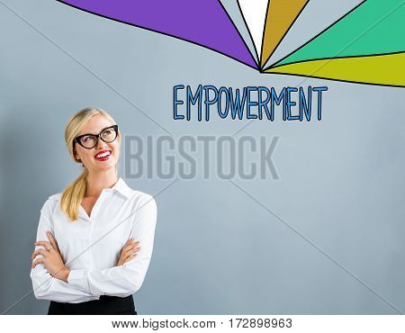 Empowerment Text With Business Woman