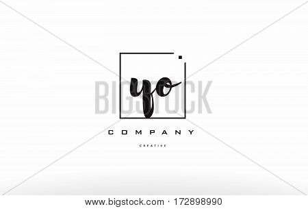 Yo Y O Hand Writing Letter Company Logo Icon Design