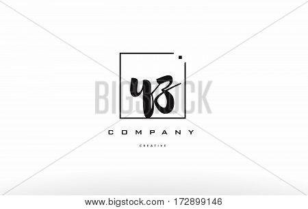 Yz Y Z Hand Writing Letter Company Logo Icon Design