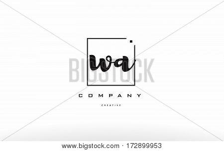 Wa W A Hand Writing Letter Company Logo Icon Design