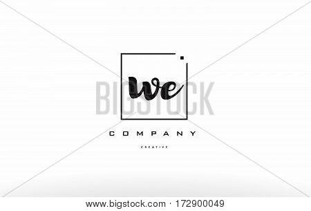 We W E Hand Writing Letter Company Logo Icon Design