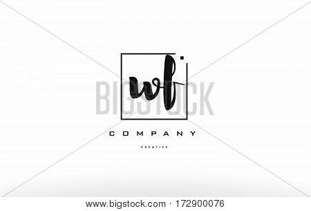 Wf W F Hand Writing Letter Company Logo Icon Design