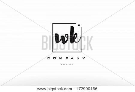 Wk W K Hand Writing Letter Company Logo Icon Design