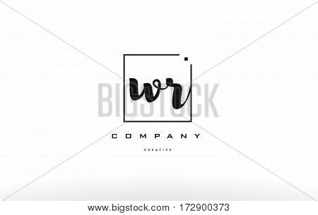 Wr W R Hand Writing Letter Company Logo Icon Design