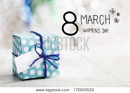 8 March Womens Day Message With Gift Box