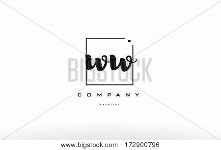Ww W Hand Writing Letter Company Logo Icon Design