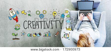 Creativity Text With Man