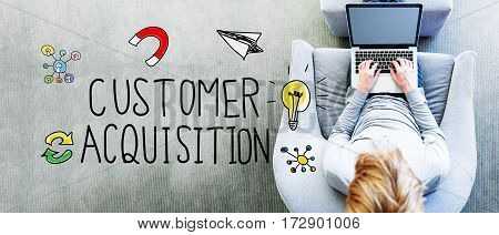 Customer Acquisition Text With Man