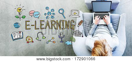 E-learning Text With Man