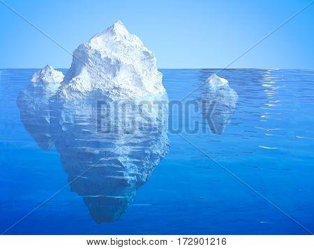 Iceberg Floating
