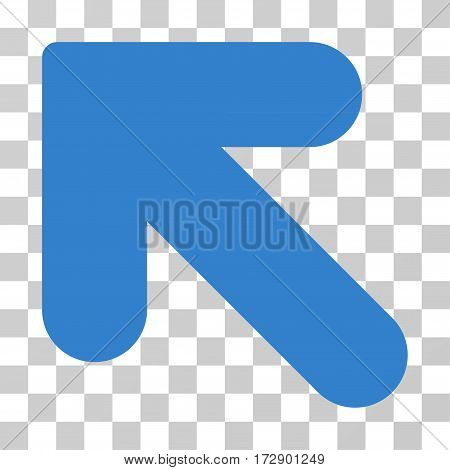 Arrow Up Left vector pictogram. Illustration style is flat iconic cobalt symbol on a transparent background.