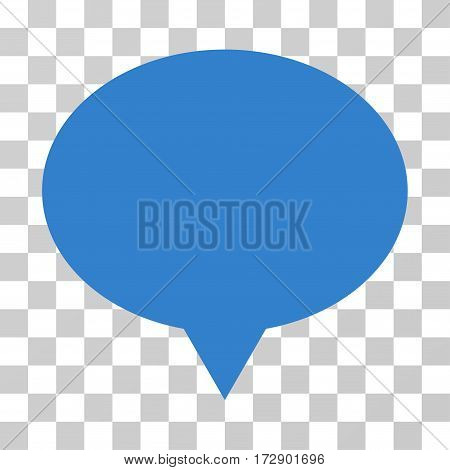 Banner vector pictograph. Illustration style is flat iconic cobalt symbol on a transparent background.