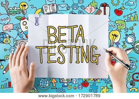 Beta Testing Text With Hands