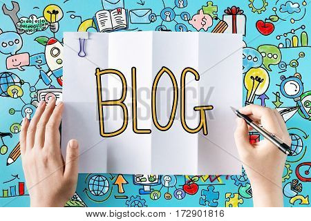 Blog Text With Hands