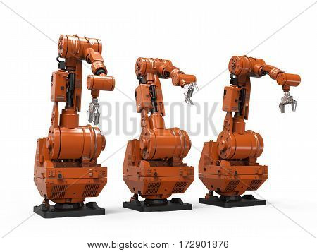 Robotic Arm On White Background