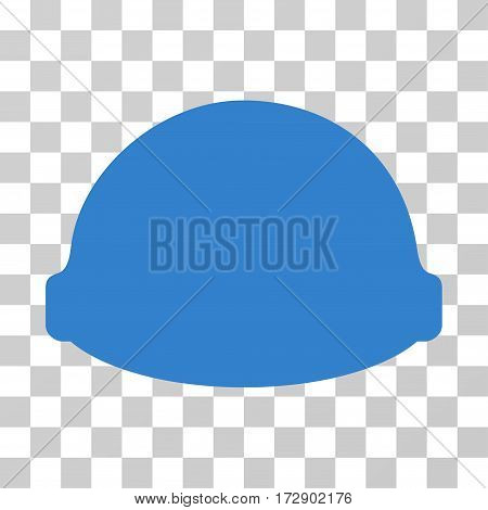 Builder Helmet vector icon. Illustration style is flat iconic cobalt symbol on a transparent background.