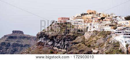 Panoramic View Of Santorini Island