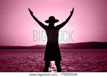 Life coaching motivation and self realization concept in pink